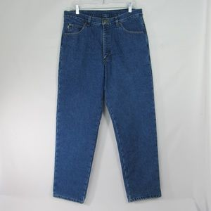 LL Bean Double L Classic Fit Flannel Lined Jeans